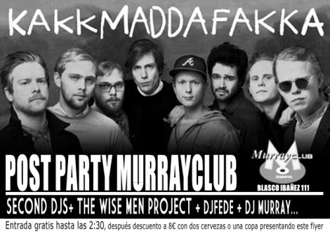 Kakkmaddafakka POST PARTY VALENCIA