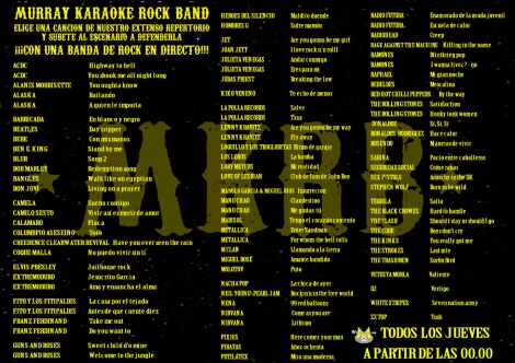 repertorio karaoke rock
