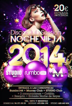 noche vieja 3 discotecas 2014
