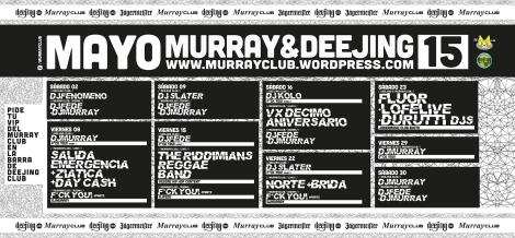programación murrayclub mayo